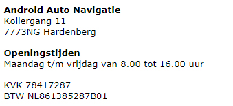 adres-gegevens-androidautonavigatie.nl