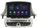 Renault Fluence zilver 2010 tot 2016 passend navigatie autoradio systeem op basis van Android